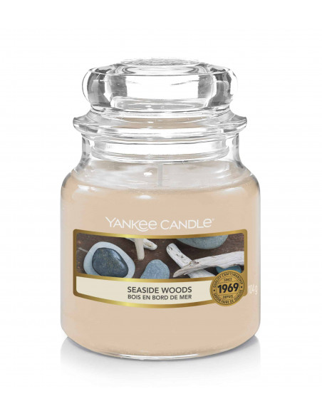 yankee candle tranquility - porta votive candele viola